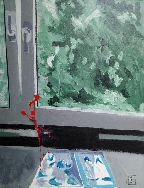 Duch 116x89 akryl płótno 2007