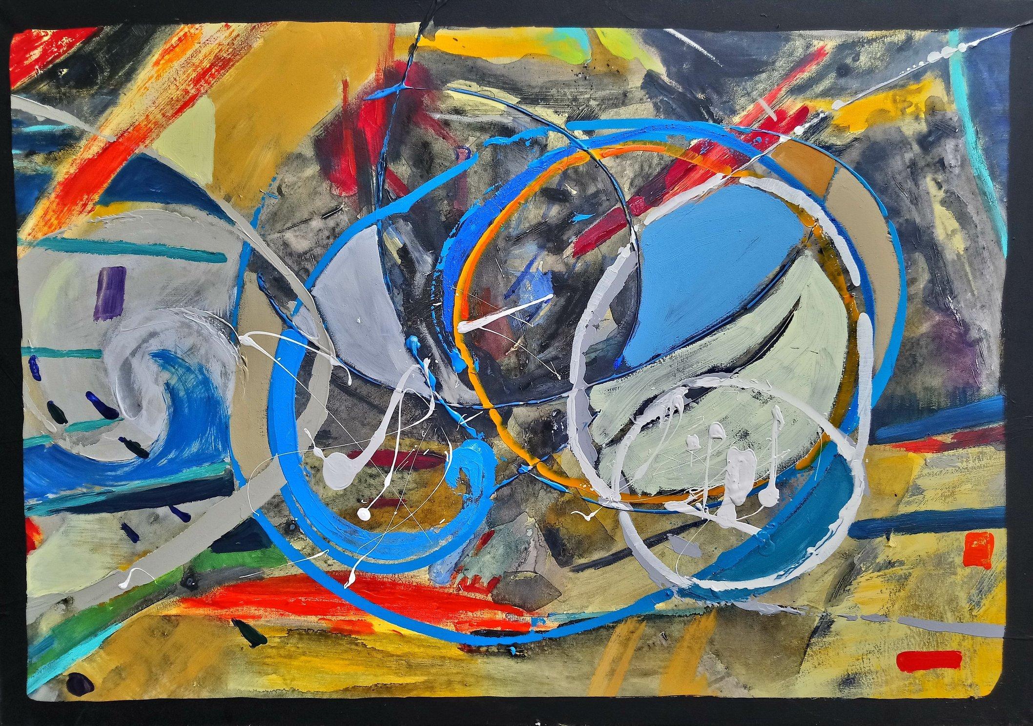 Project I Coincidence 70x100 akryl płótno 2015