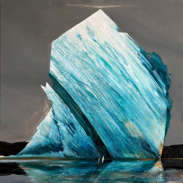 Wielki lód - ciekawość 110x110 olej płótno 2017