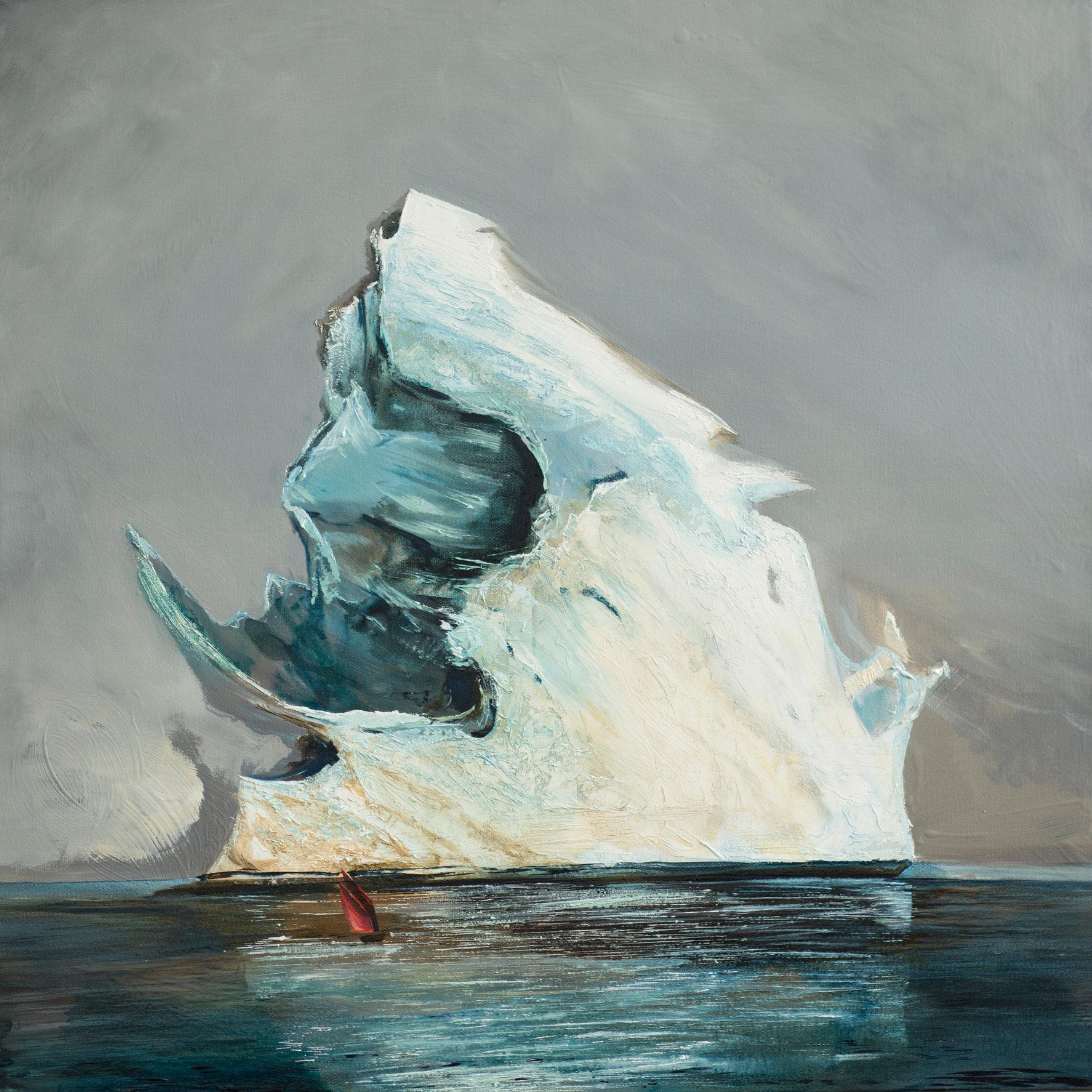 Wielki lód 2, 110x110 olej płótno 2017