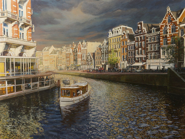 Amsterdam Rokin 90x120 akryl płótno 2020