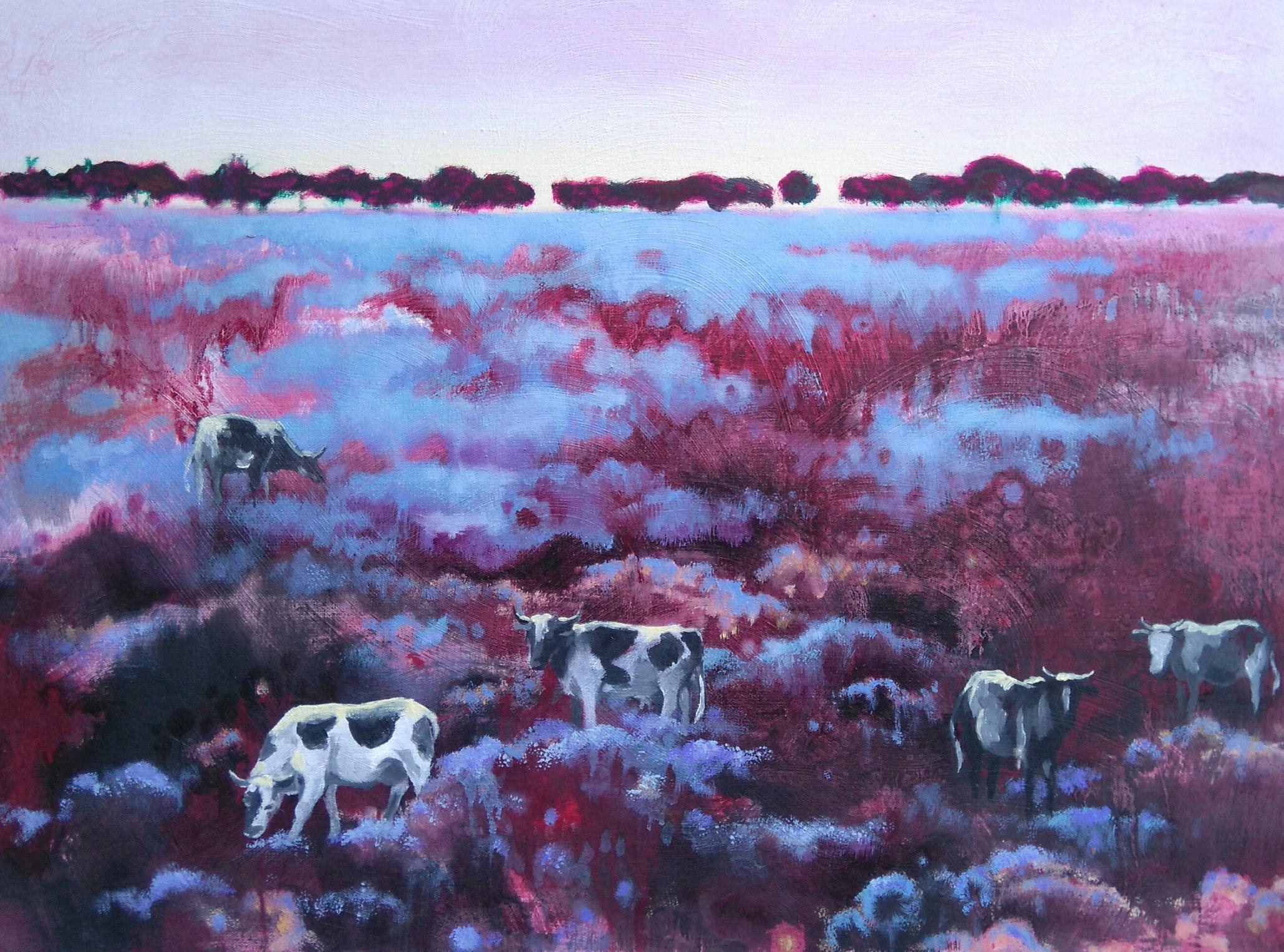 Niebieska łąka 60x80 olej płótno 2014