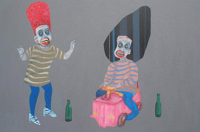 Party 80x120 akryl płotno 2011