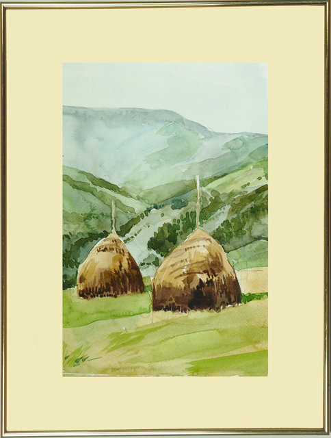 Pejzaż Polski 29x19 - 18 Stogi na letniej górskiej łące.jpg