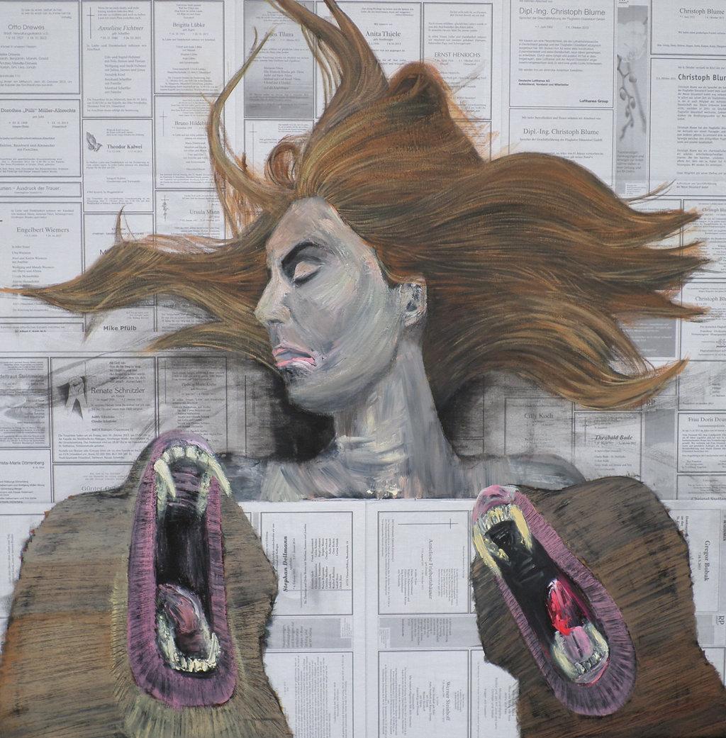 Medusa 3, 100x100 akryl płótno 2014