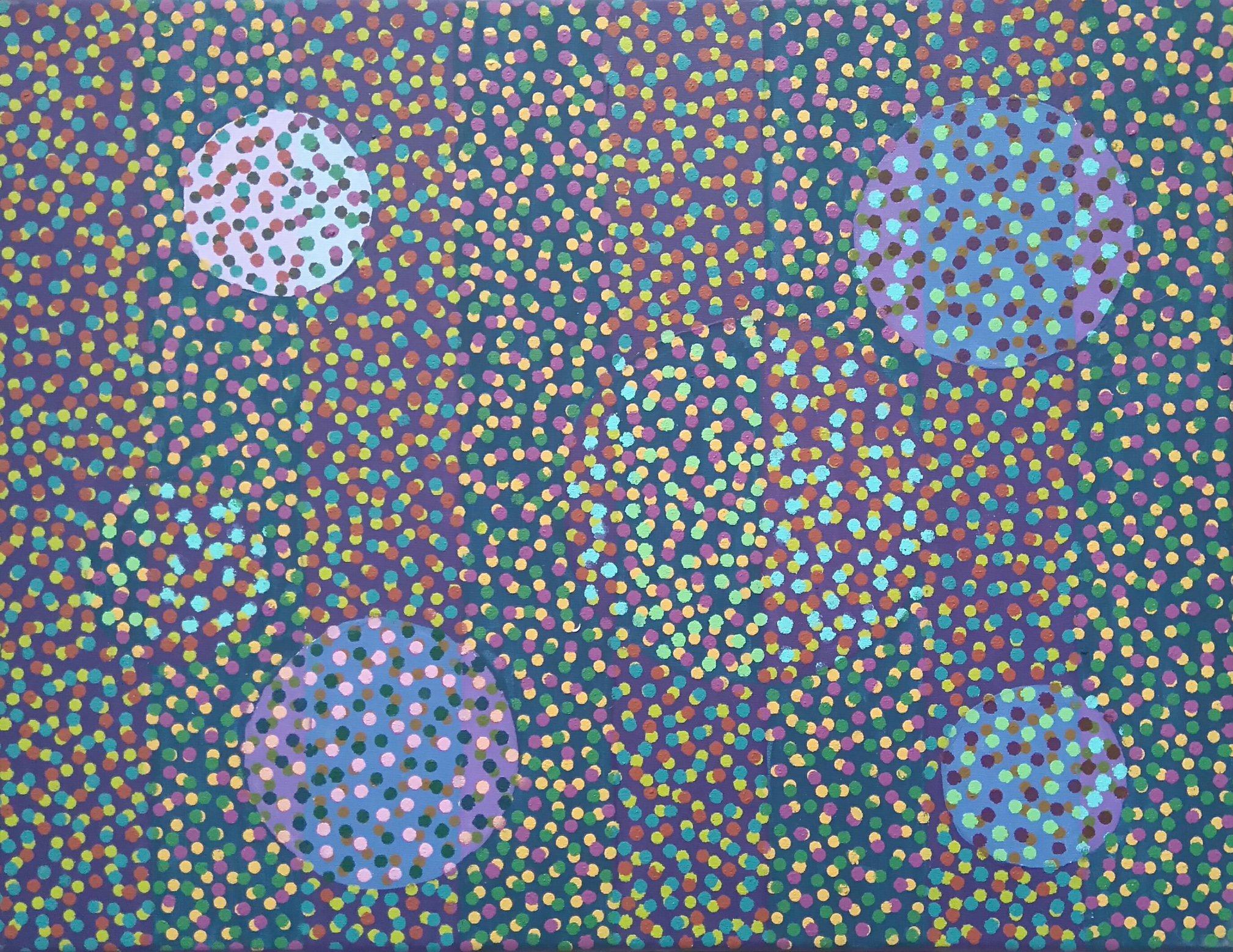 Zanim gwiazdy... 50x65 akryl płotno 2017 (wł. pryw.)