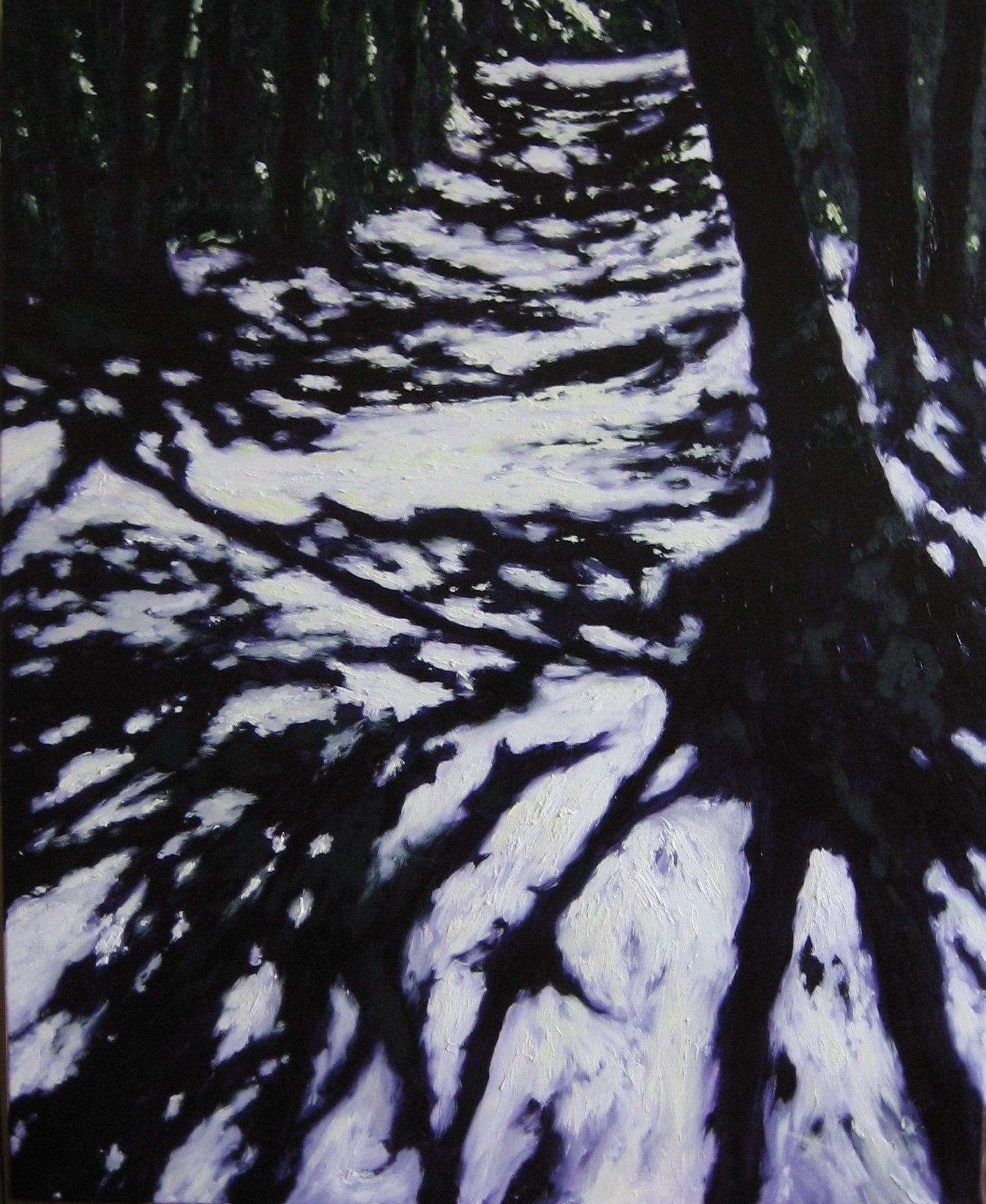 Las Bielański 100x81 olej płótno 2013