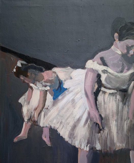 Baletnice wg. Degas'a 100x81 akryl płótno 2019 2000.JPG