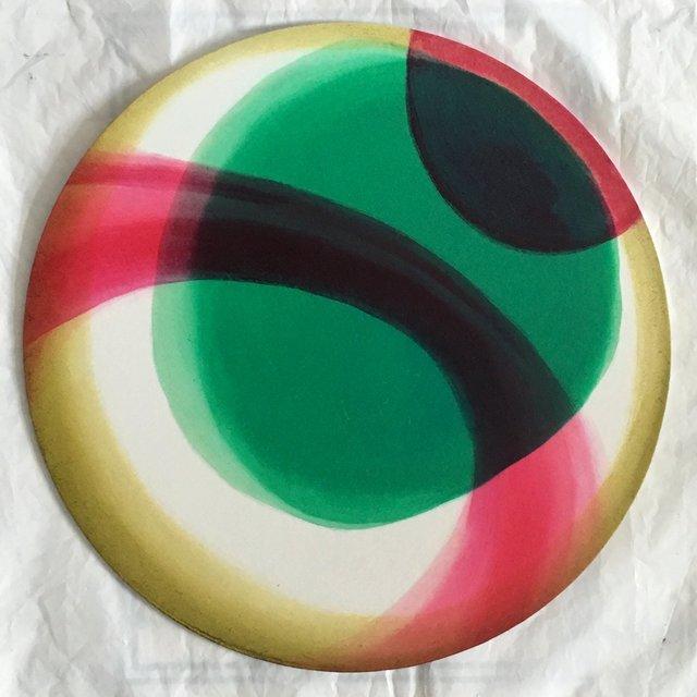 Planeta II 40cm (koło) olej płyta 2019