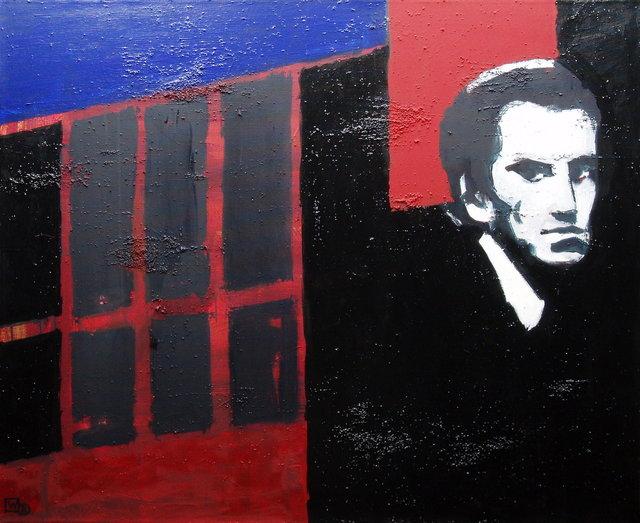 Majakowskij w Kijowie 90x110 akryl płótno