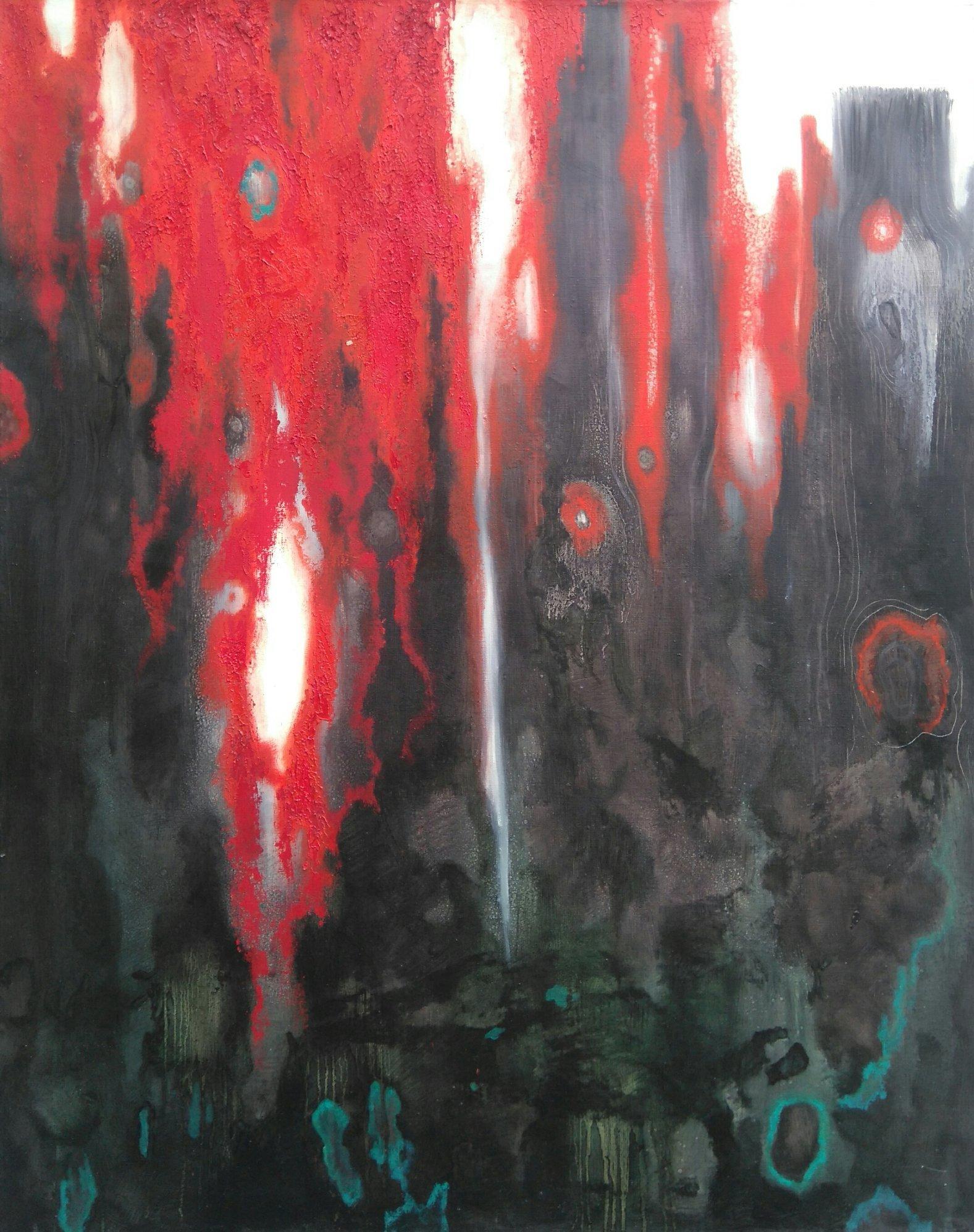 Czerwony las 92x73 olej płótno 2012