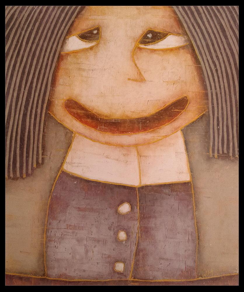 Panna Gosia 50x60 pastele olejne papier (wł. pryw.)