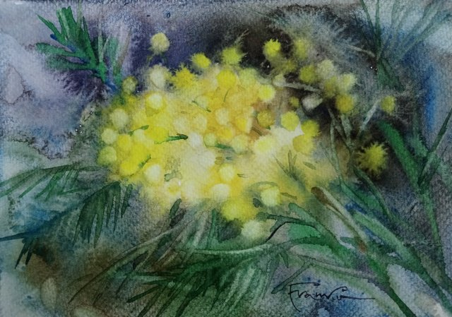 Kwiaty 24x30 (15x21) akwarela (wł. pryw.)