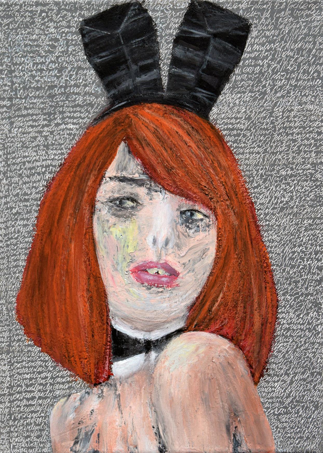 Sybilla 40x30 akryl płótno 2015