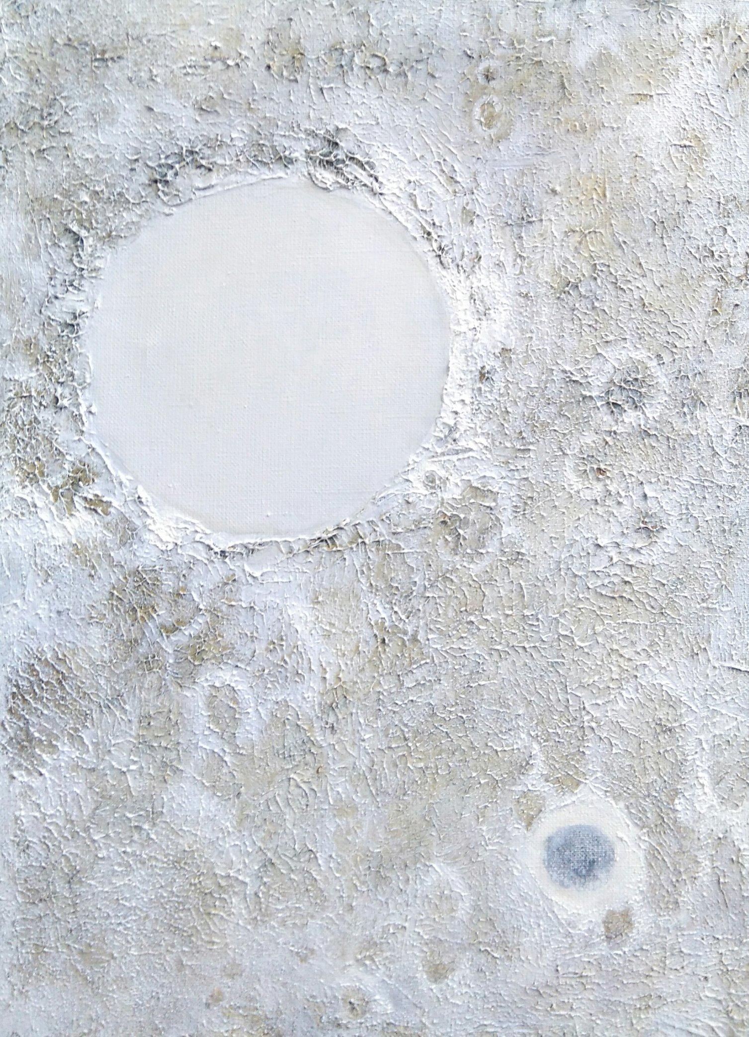 Zimowy księżyc 55x40 olej płótno 2014 (wł. pryw.)