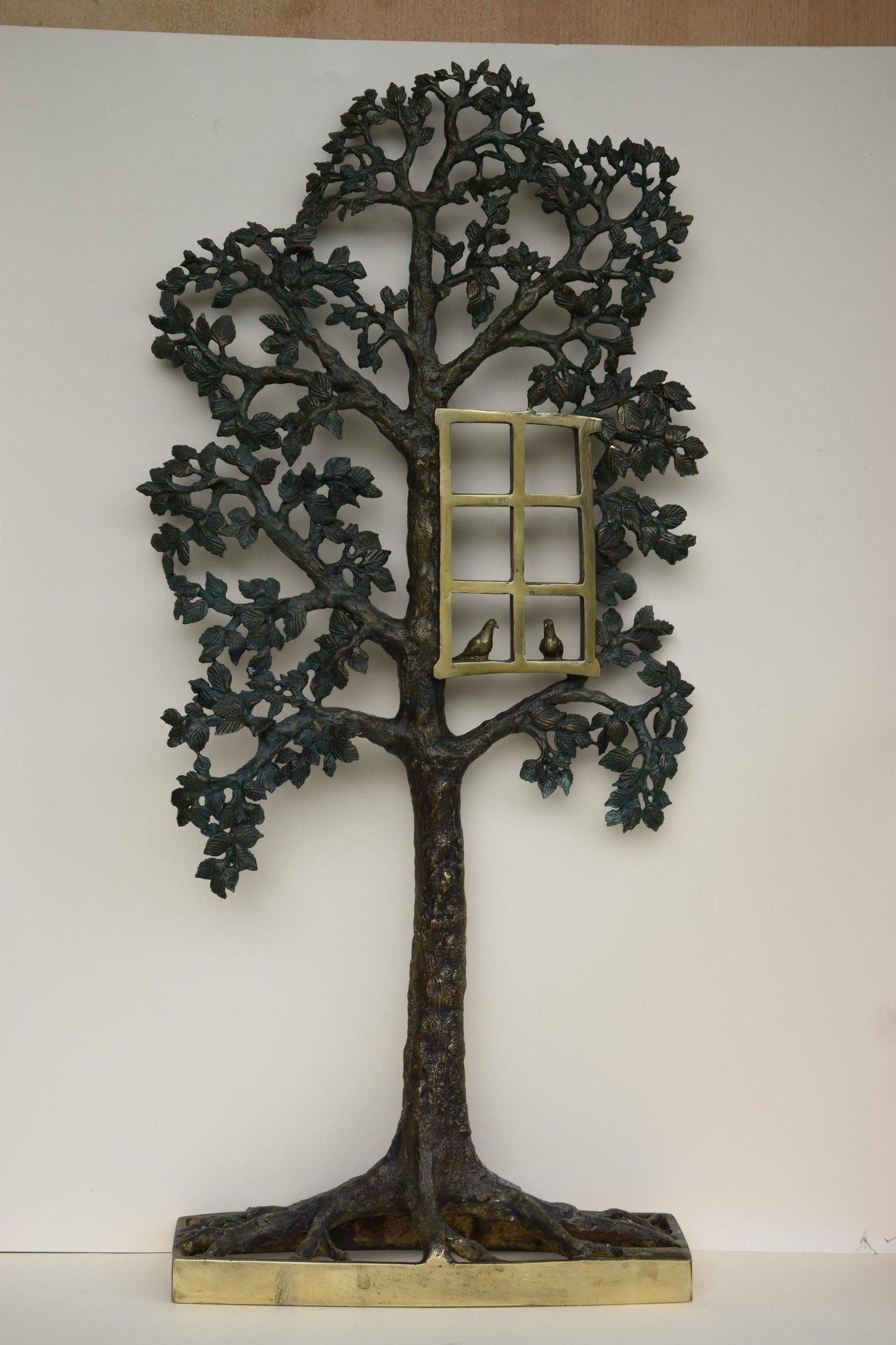 Drzewo dla zakochanych 70x33x12 brąz