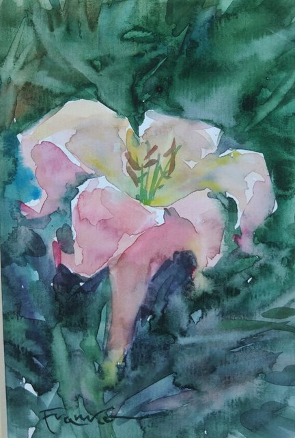 Kwiat 21x15 (15x10 w świetle passe-partout) akwarela
