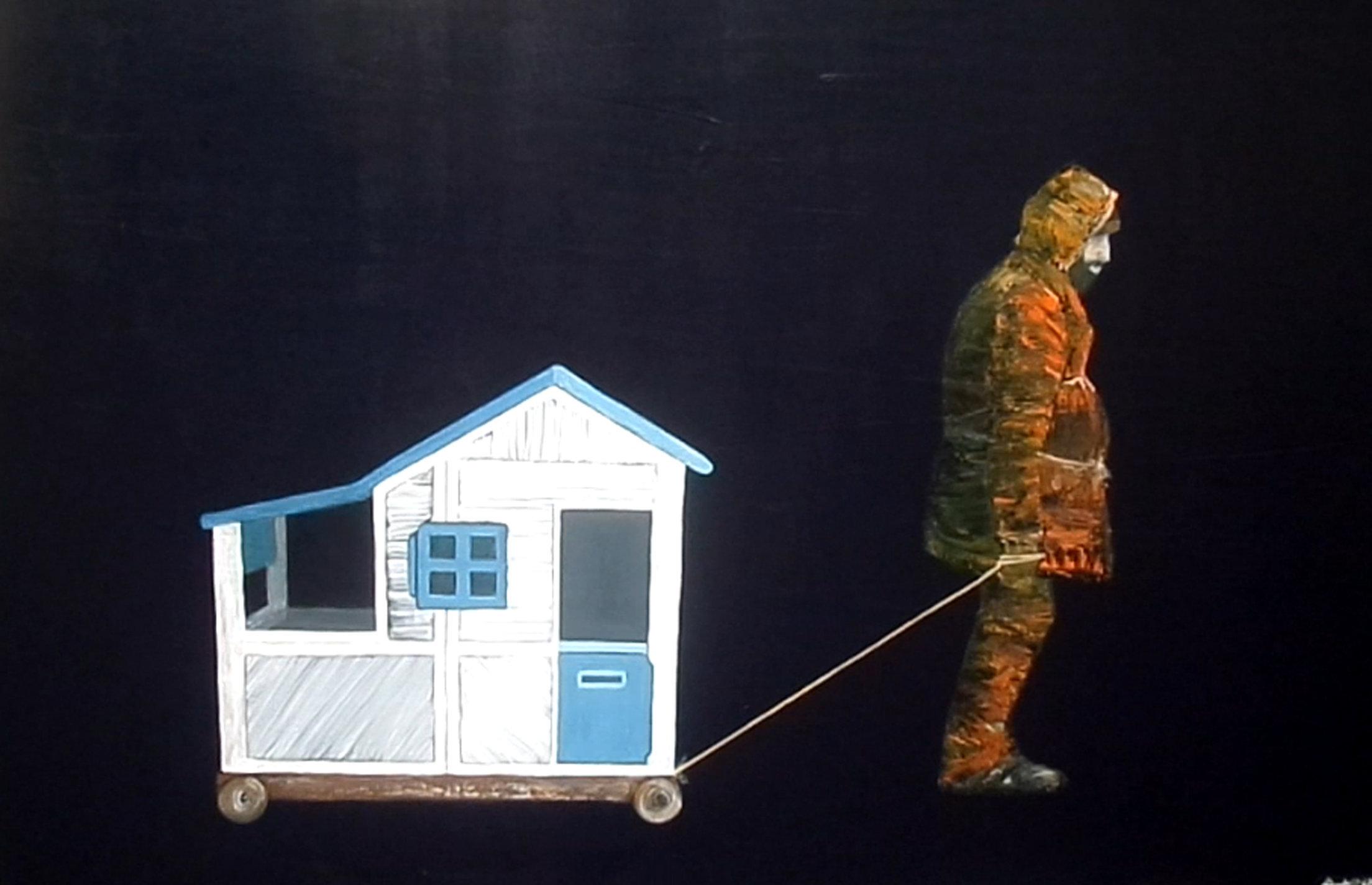 Wanderleben (Tułaczka) 80x120 akryl płótno