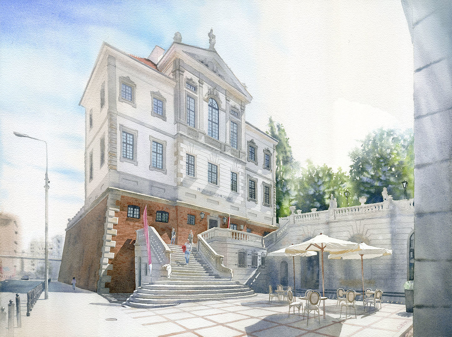 Muzeum Chopina 55x75 akwarela