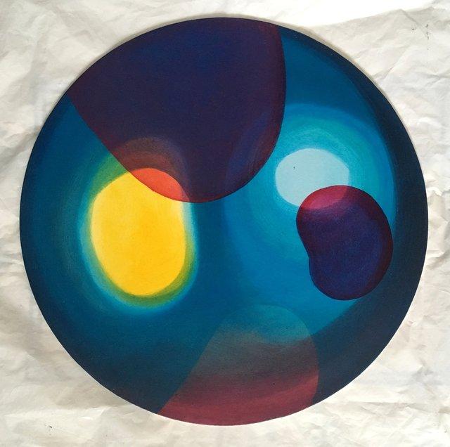 Planeta I 40cm (koło) olej płyta 2019