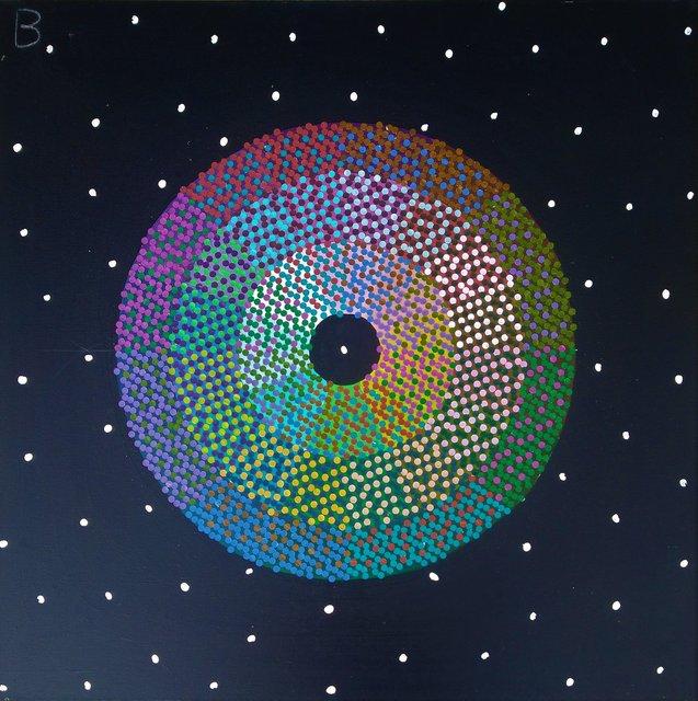 Koło barw złamanych 84x84 akryl płótno 2019