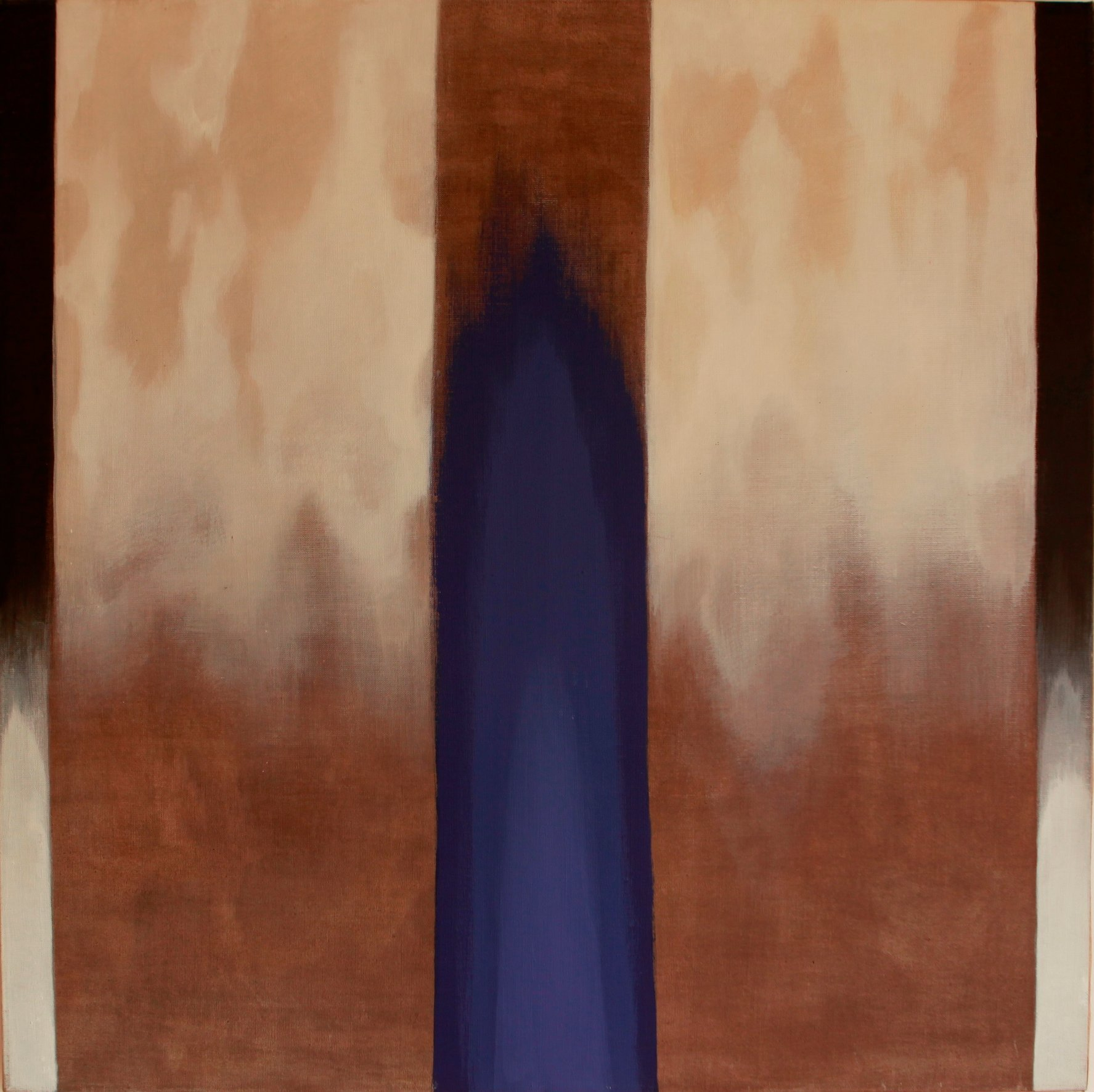Niebieskie światło 100x100 akryl płótno 2011