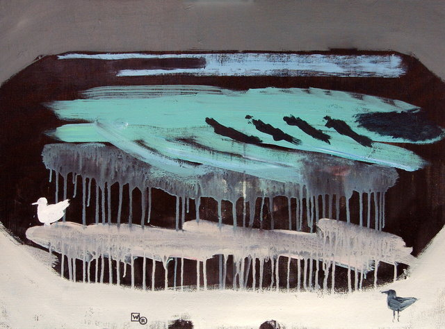 Morze z mewami 60x81 akryl płótnie