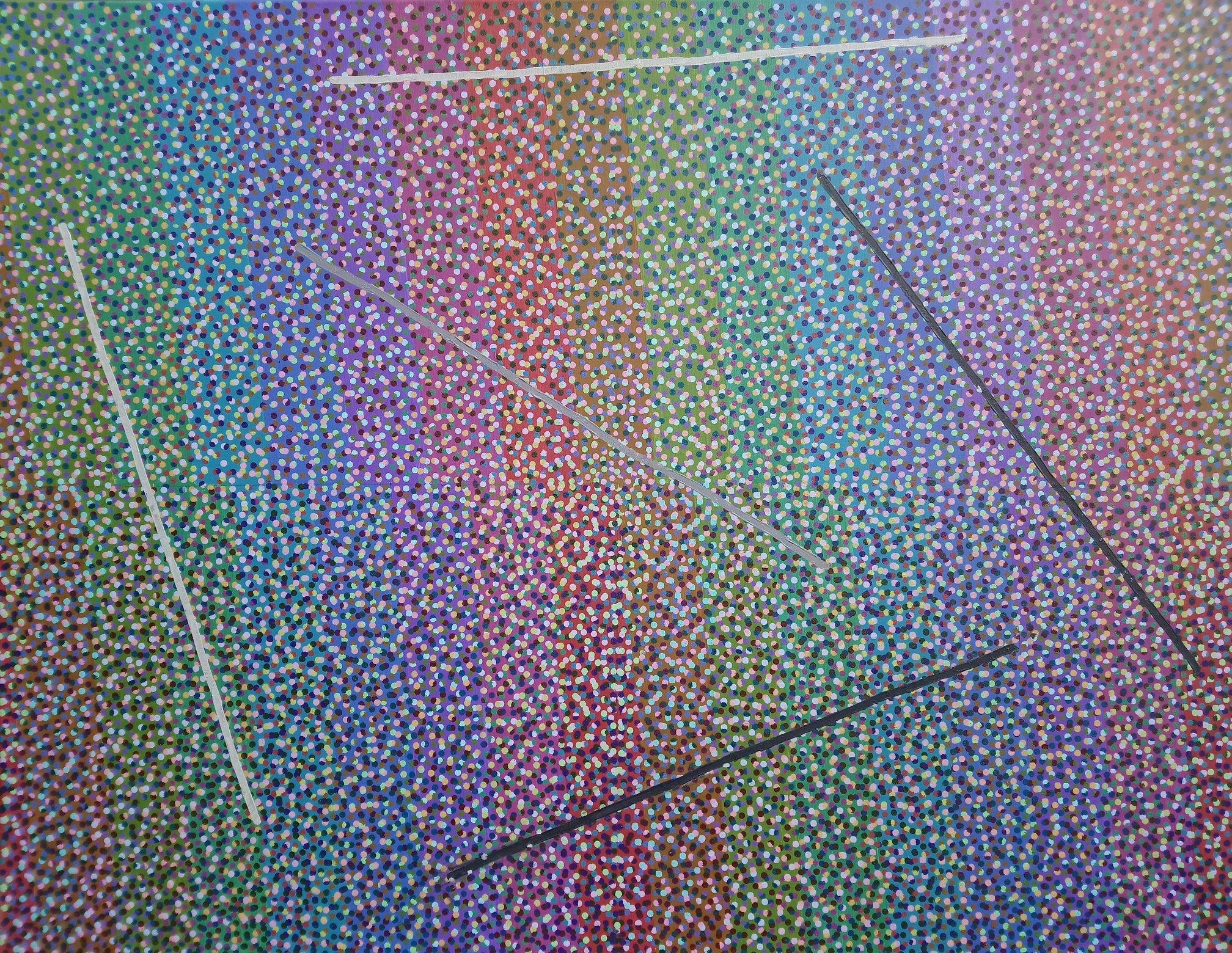 Nowy Strukturalizm 2 100x130 akryl płótno 2017