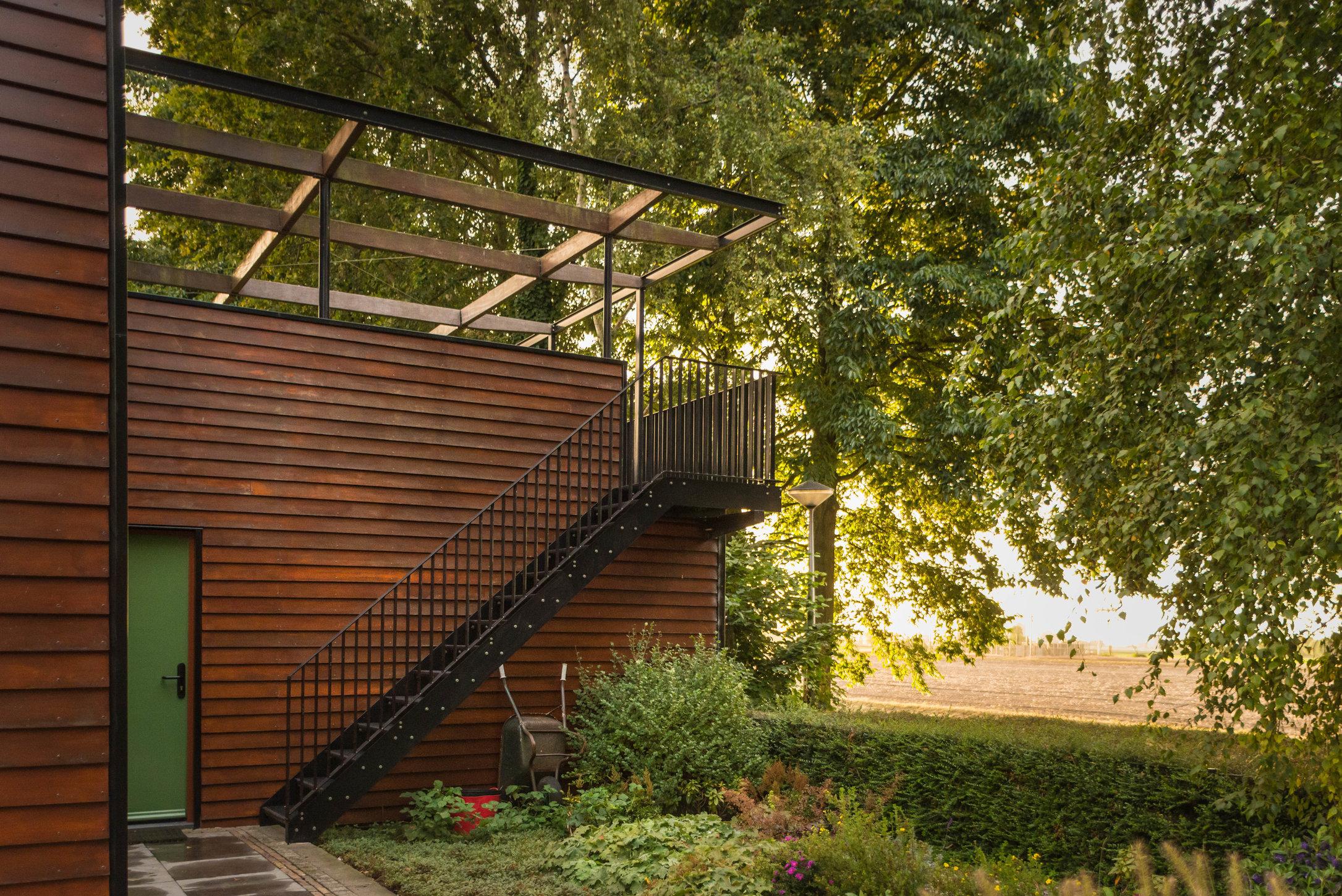 Pergola huis, nieuw zicht op polder van Moerkapelle