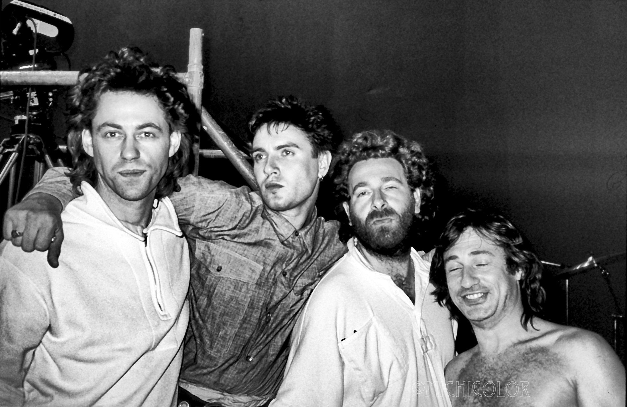 Bob Geldof, Simon Le Bon, Kevin Godley, Lol Creme