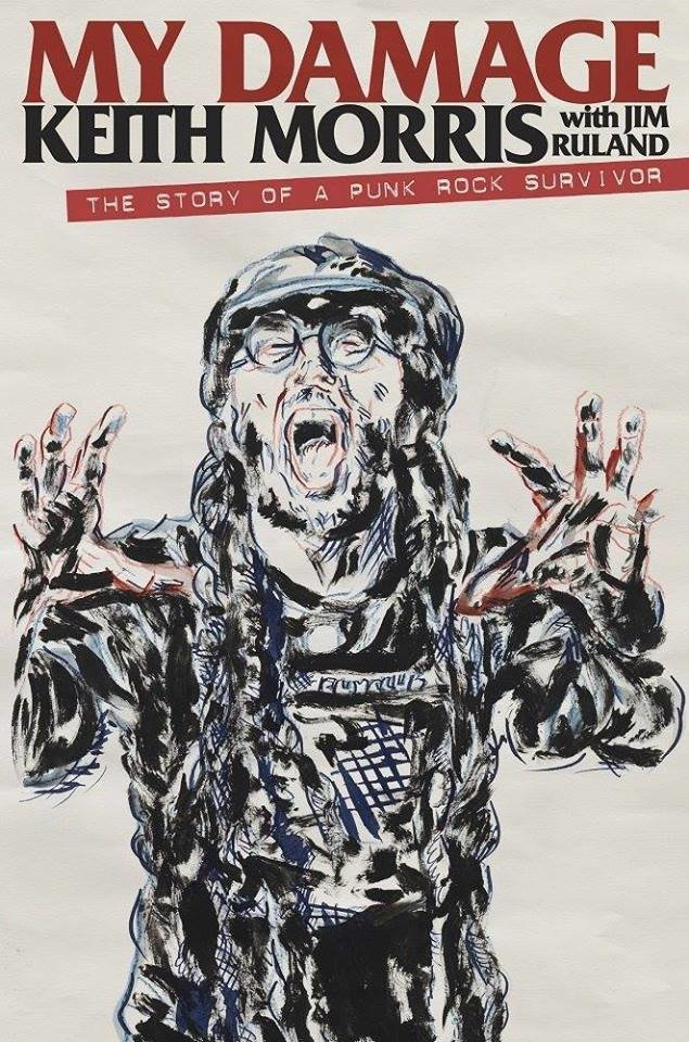 Keith Morris photo collabed with artist Raymond Pettibon