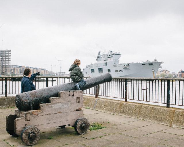 HMS Ocean at Greenwich, 2012