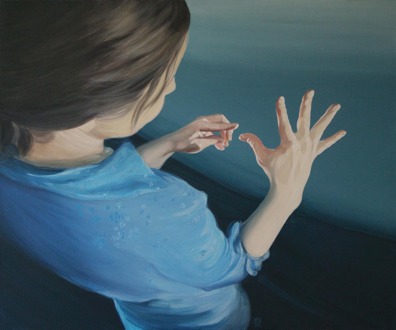 Nic nie jest dziełem ludzkich rąk, akryl na płotni