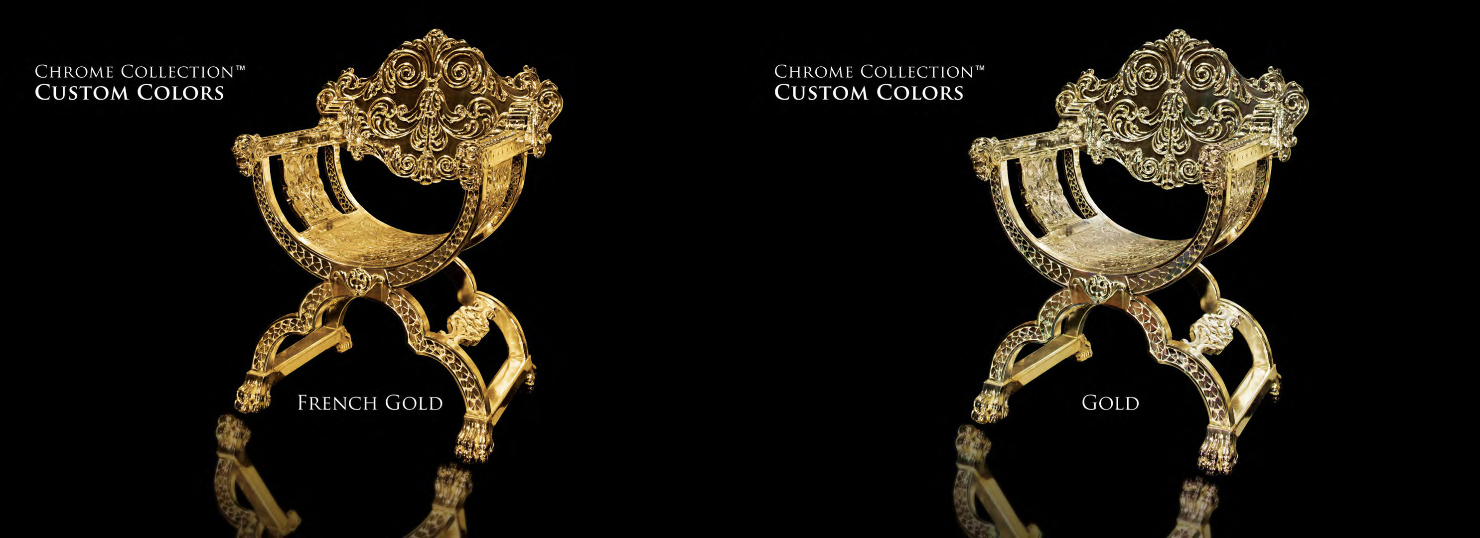 Lion Chair - French Gold & Gold