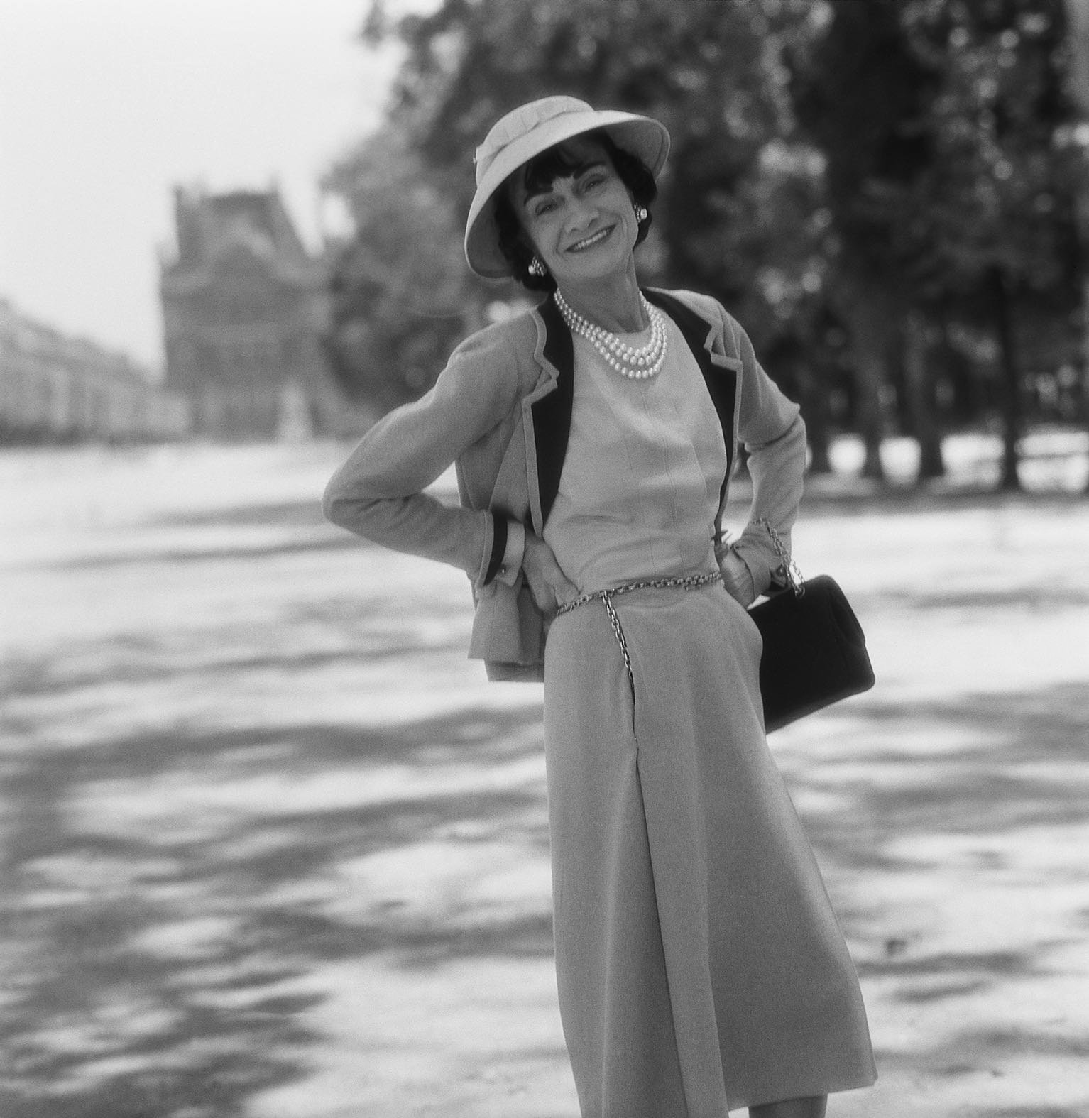 Mademoiselle Chanel in the Tuilleries, Paris, 1955