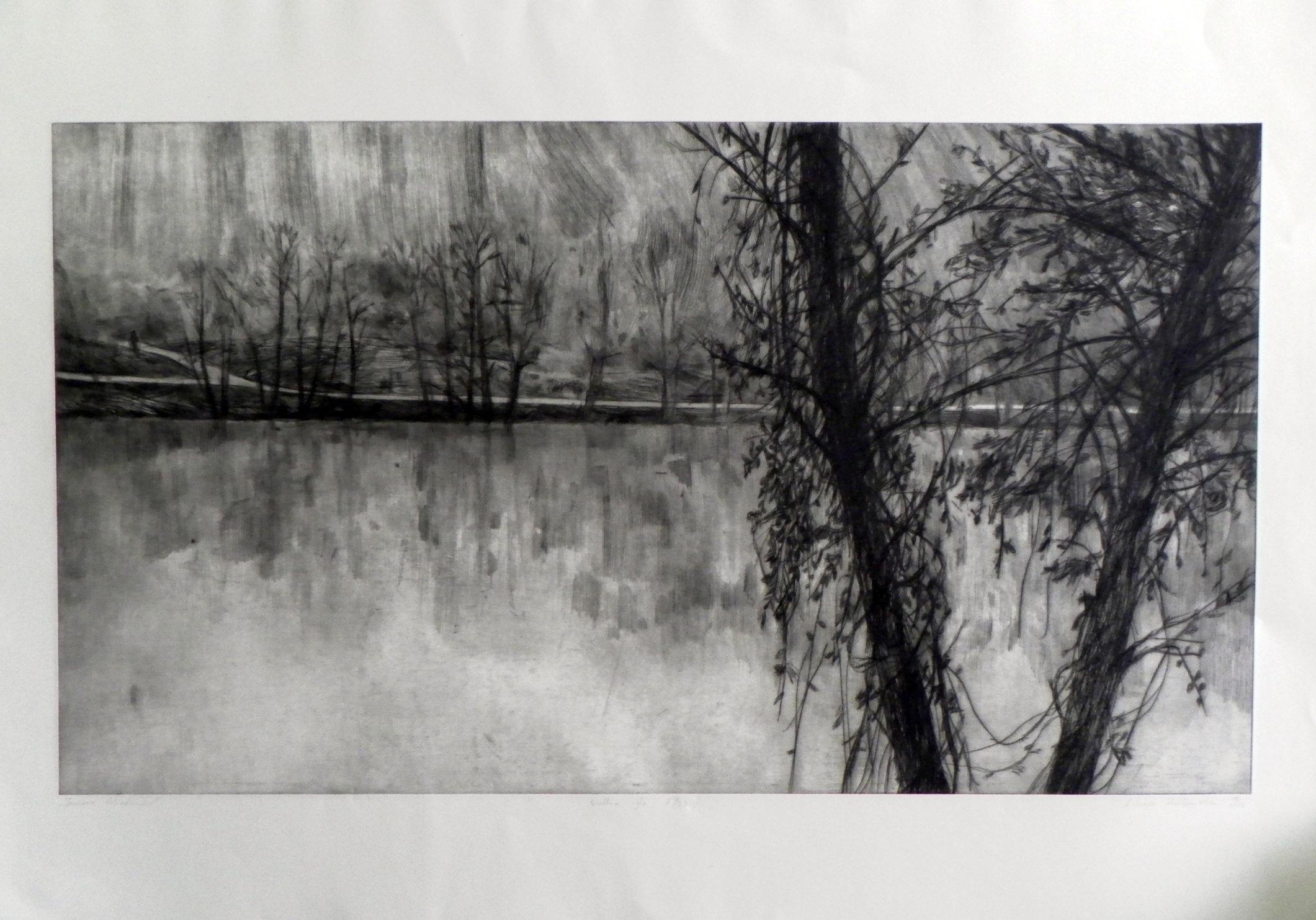 jezioro, sucha igla, 49x88,5