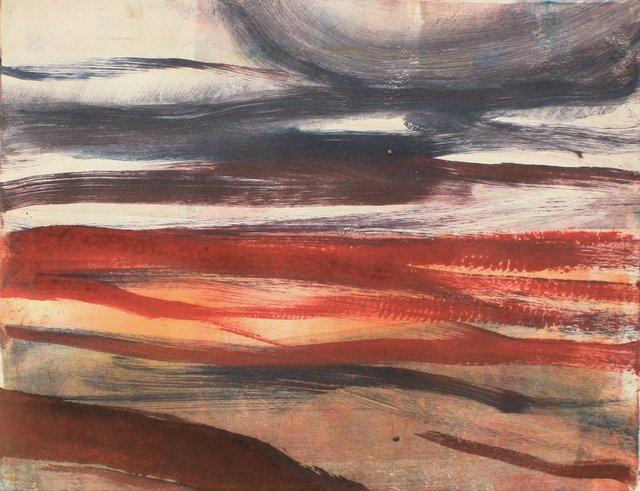 """Desert Improvisation I   10 x 13"""""""