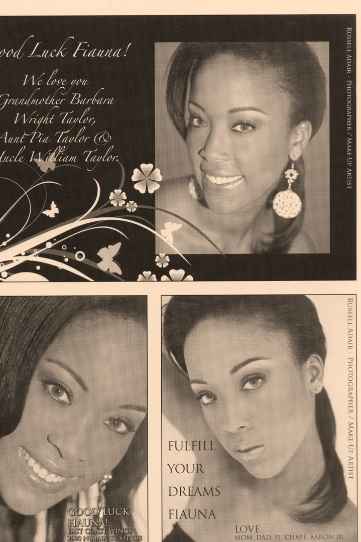 FIAUNA TAYLOR- TRIADS MODEL OF THE YEAR featured in the Miss NC-UCA program.