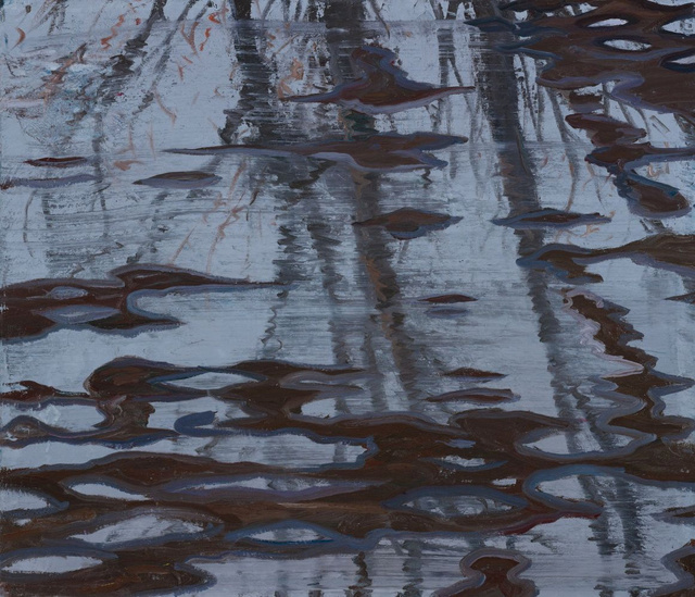 """Water on Roof I     36 x 44"""" sold"""