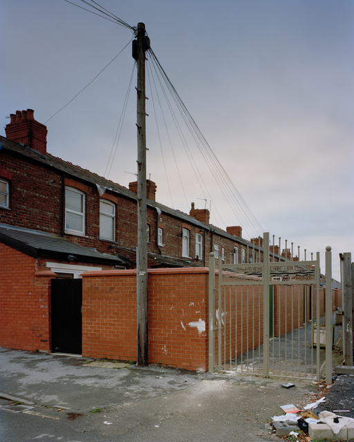 Gated alleys, Manchester, 2012