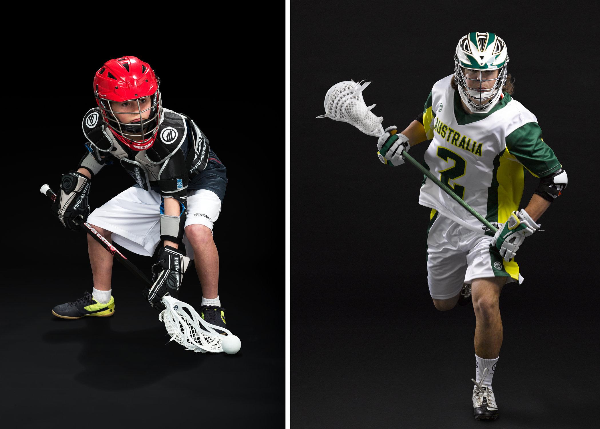 Maverik Lacrosse players for advertising needs
