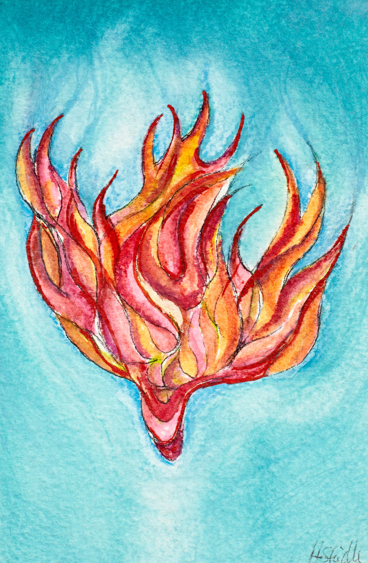 Feuerflammenengel