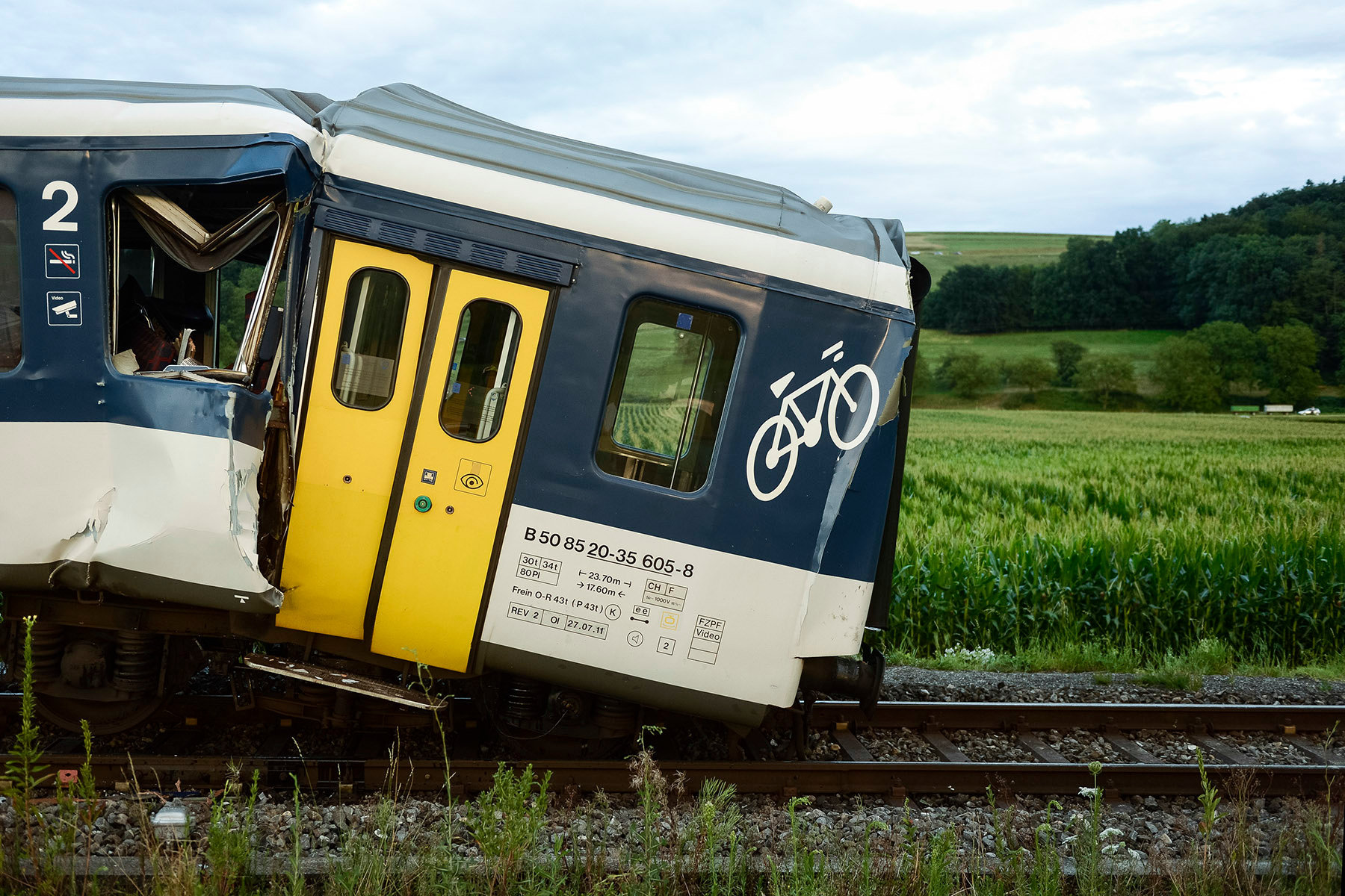 Accident train - Granges-Marnand - 2013