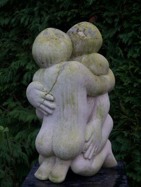 Big Embrace   1992   55 x 30 x 20cm   Ancaster Lime Stone