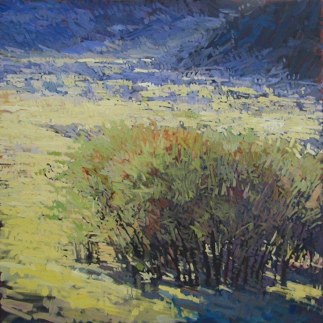 Gambel Oaks Along Edge, 2013, Acrylic on Canvas, 48 x 48 in.