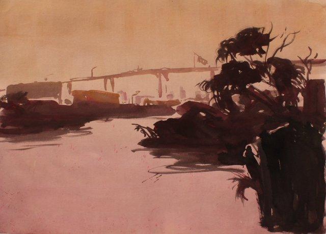 """Gowanus Canal     22 x 29"""""""