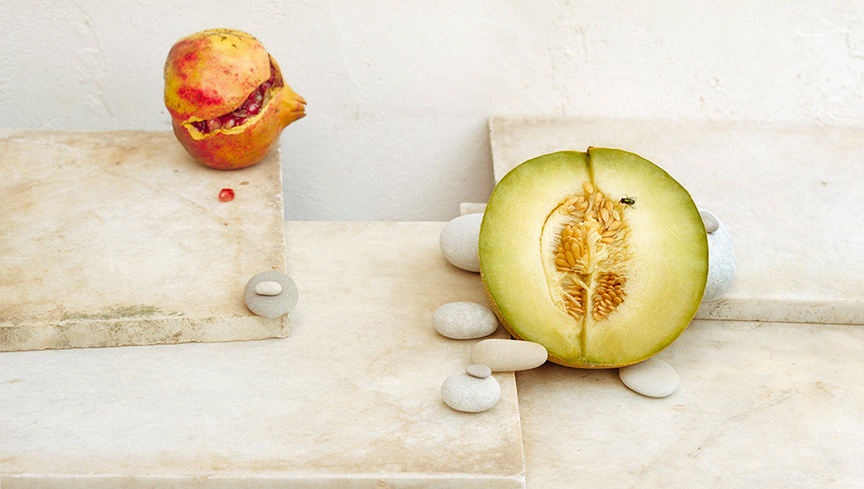 Half Melon & Pomegranate, c 2007