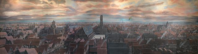 Panoramic painting of Medieval Bruges, HISTORIUM, Brugge