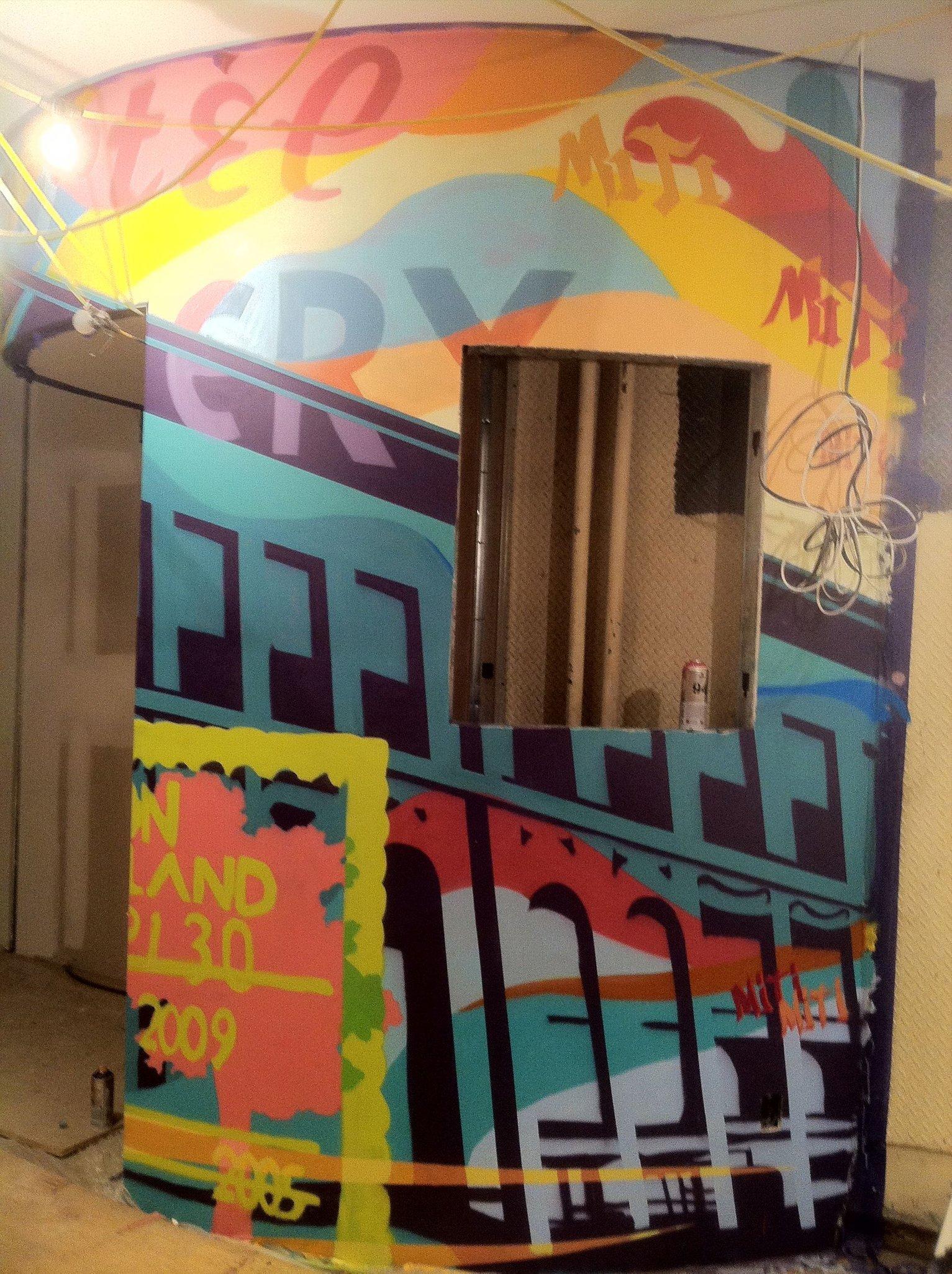 Section of Miti Miti restaurant mural