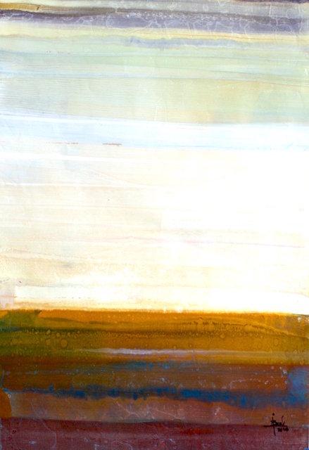 El Camino Real de La Tierra, NM Monotype on wood panel 24x 20 in$1,500.00